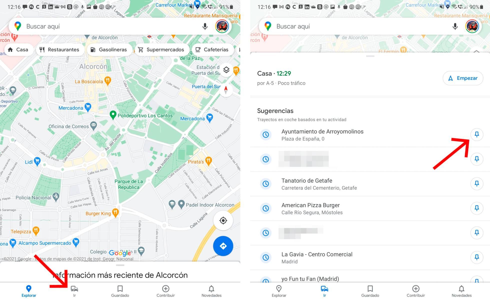 Enregistrer les itinéraires en un seul clic sur Google Maps.